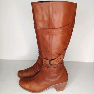 Naot Allure Brown Leather Riding Boot, 9